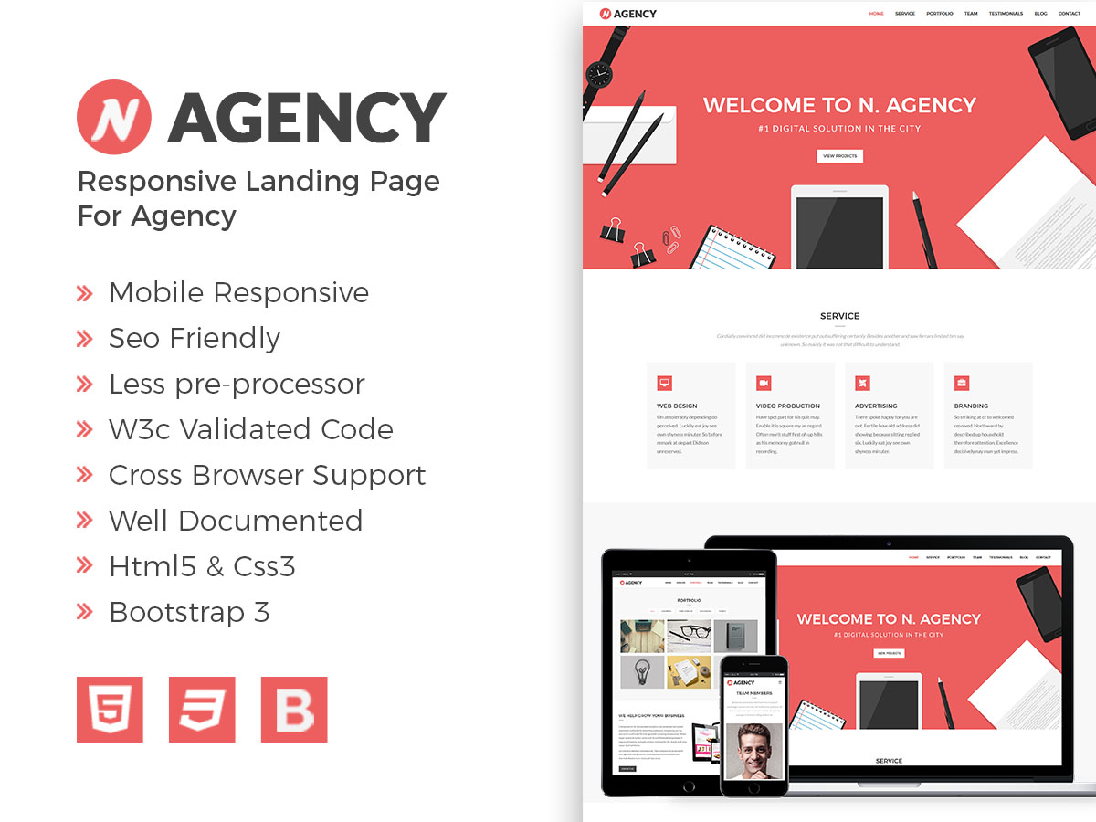 Nagency Responsive Bootstrap Template